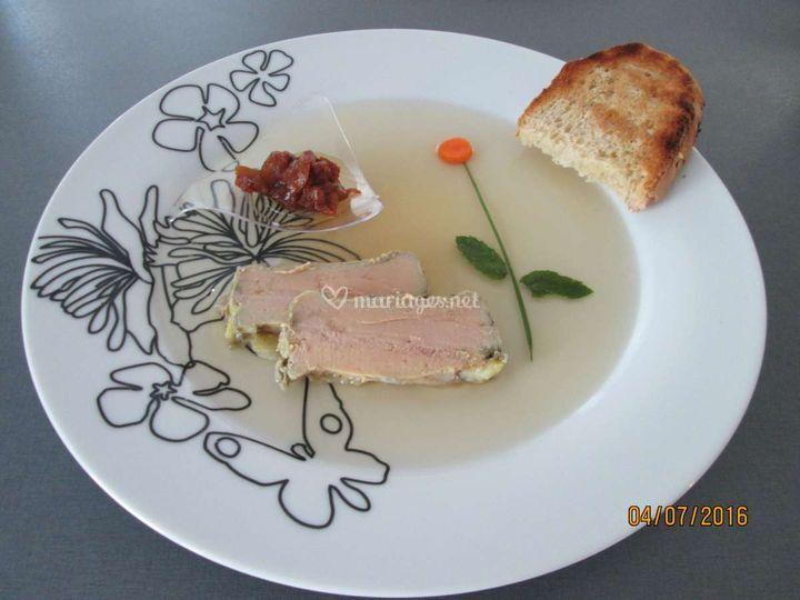 Foie gras de canard et chutney