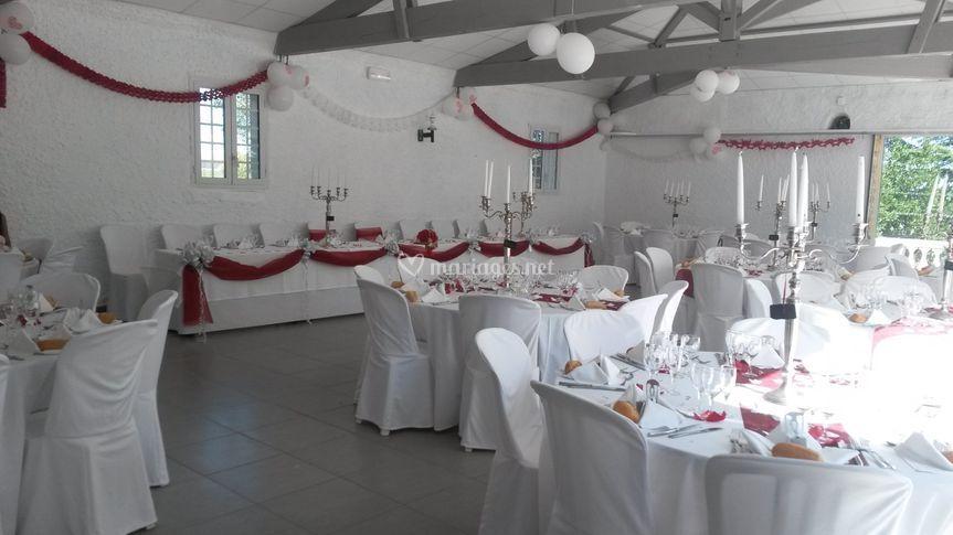 Salle en configuration mariage