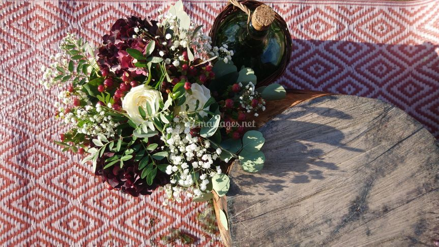 Bouquet champêtre et violine