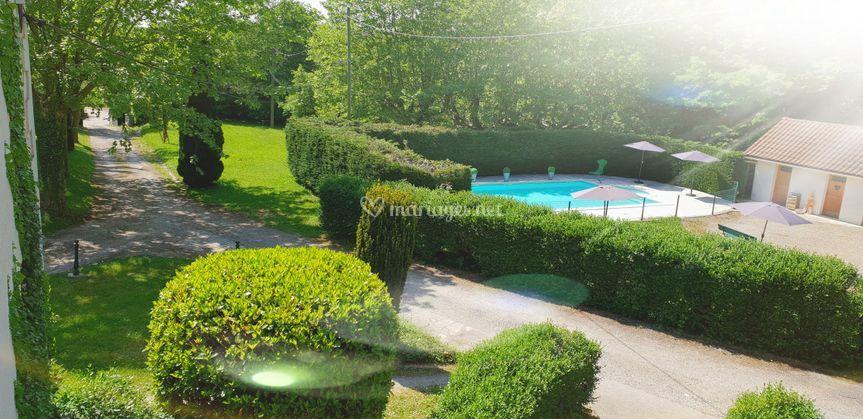 Parc et piscine du château
