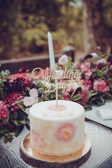 Wedding Cake et Cake topper