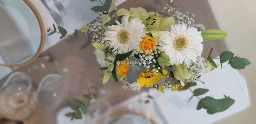 Centre de table art floral