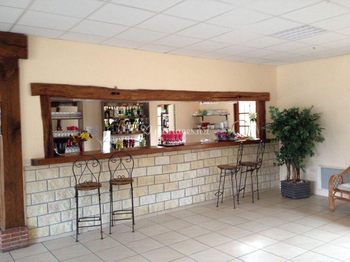 Comptoir bar de la salle