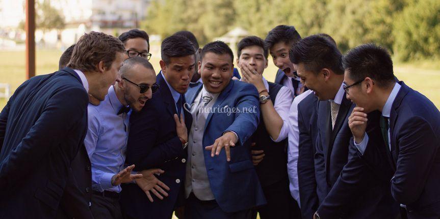 Marié avec ses copains