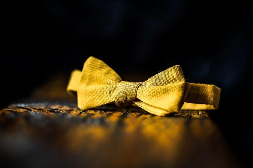 Noeud papillon jaune moutarde