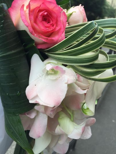Bouquet luxe tombant