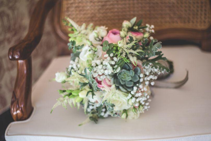 Bouquet de mariée shabby chic