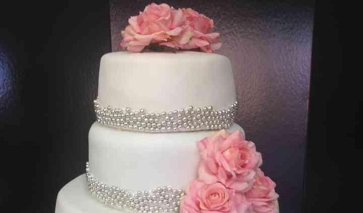 Wedding cake argent rose gris