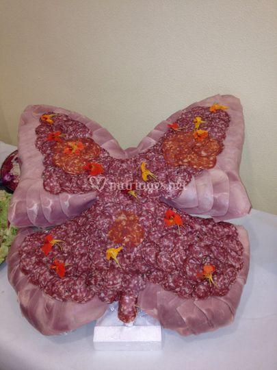Papillon de charcuteries