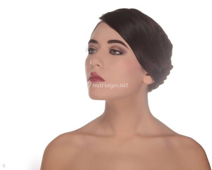 Exemple d'un maquillage mariée