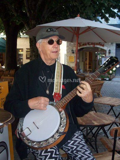 Floren au banjo