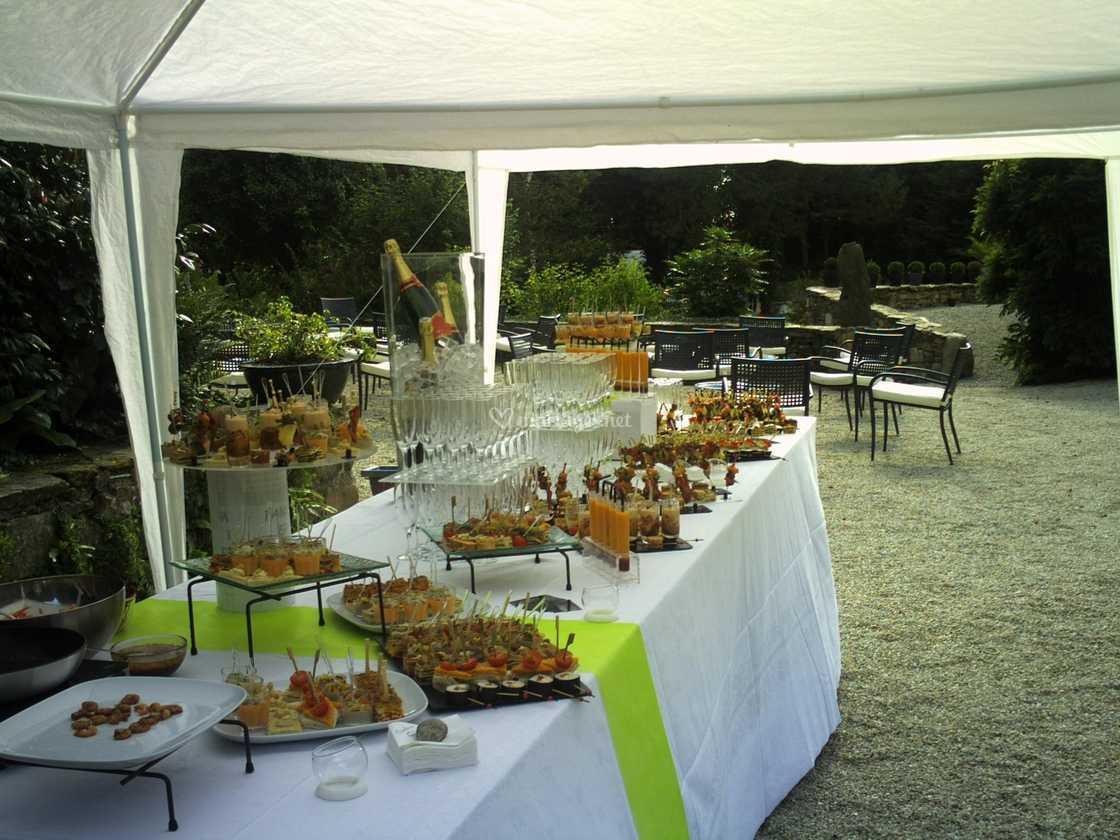 buffet en extérieur de domaine ar stivel | photo 52