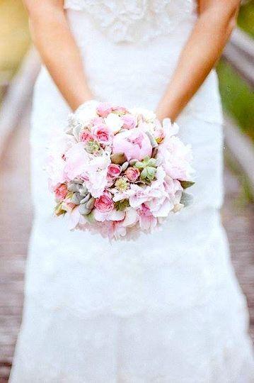 Bouquet de mariée rétro