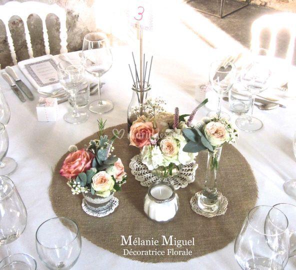Centre de table mini bouquet