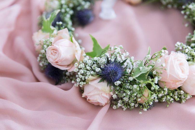 Couronne florale de la mariée