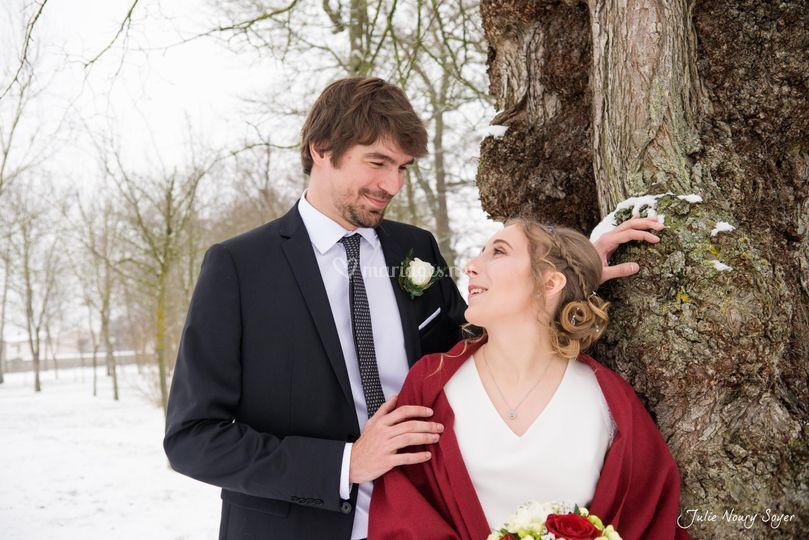 Mariage sous la neige à Nancy