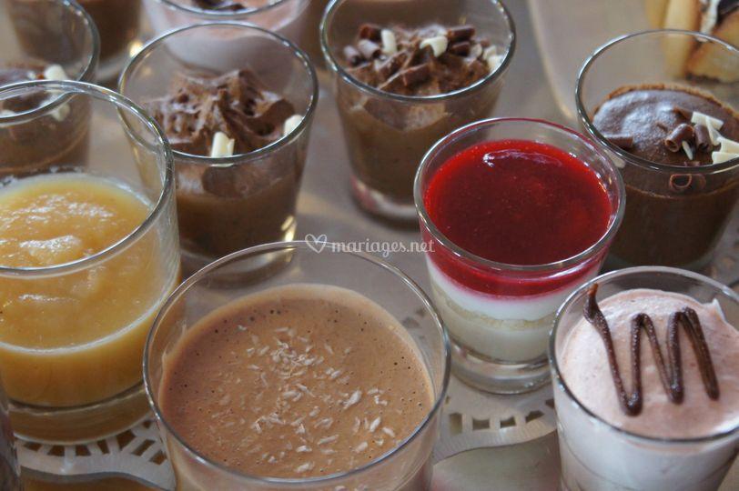 Buffet de desserts en verrines