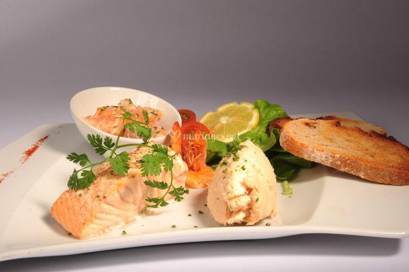 Trilogie de saumons