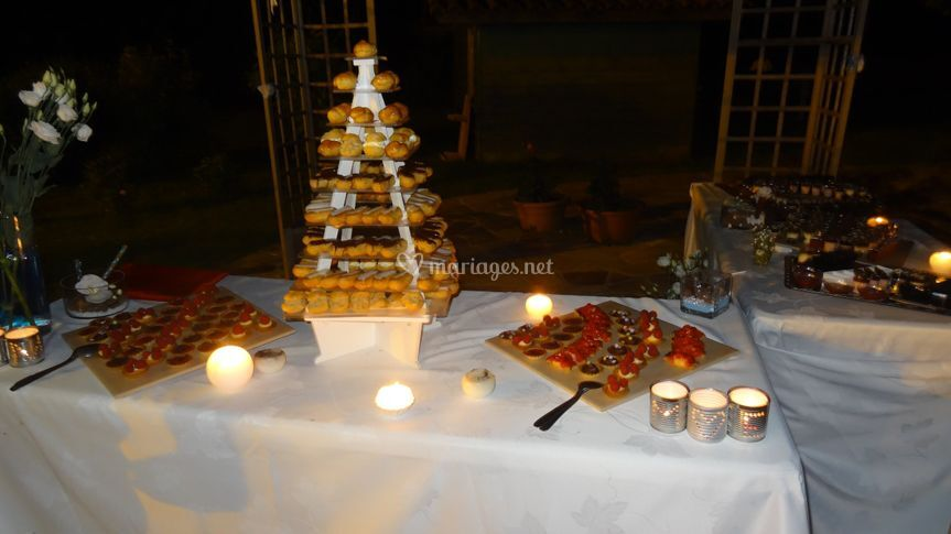 Buffet de desserts extérieur