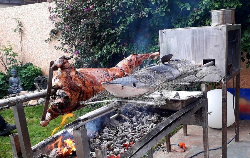 Viande et poisson au choix