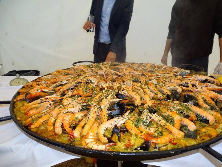 Paella mediterranéenne
