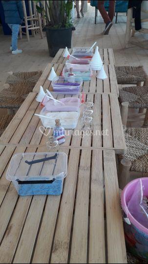 Atelier sable coloré