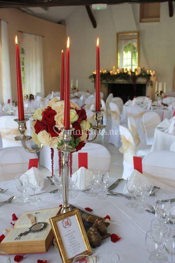 Table d'honneur chandelier