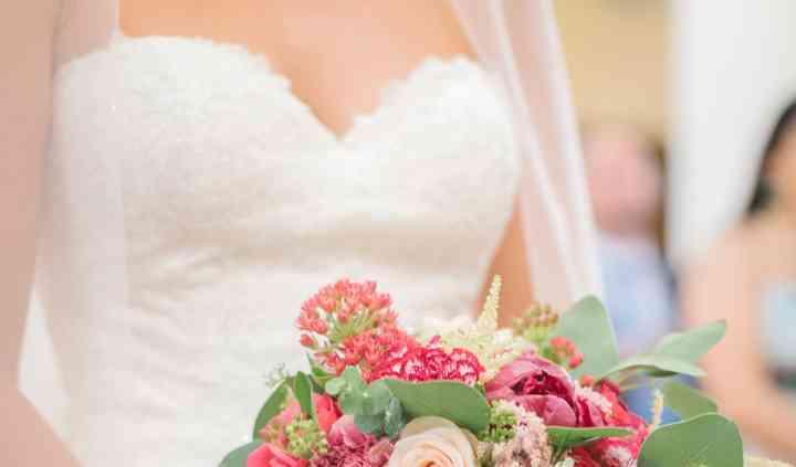 Bouquet de mariée bordeaux