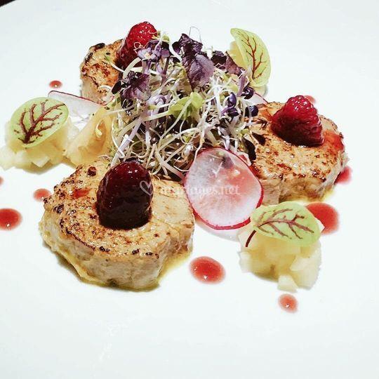 Foie gras, Porto et framboise