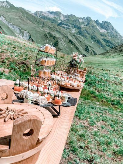 Buffet cocktail champêtre