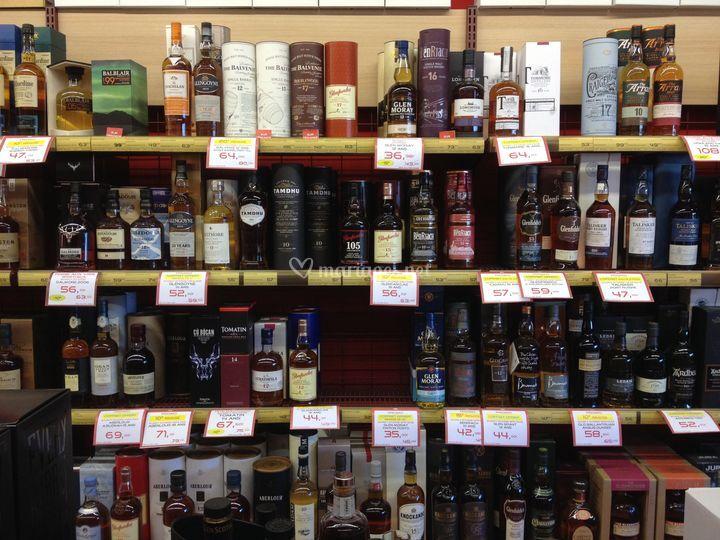 Grande sélection de whiskies