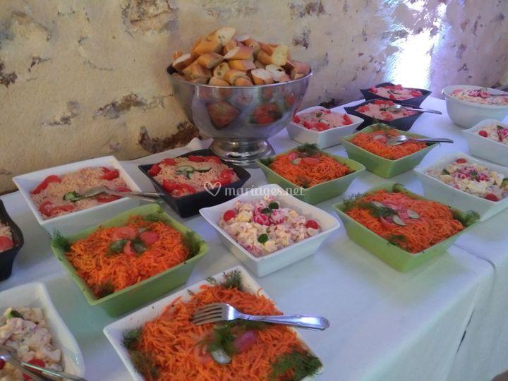 Buffet salades composées