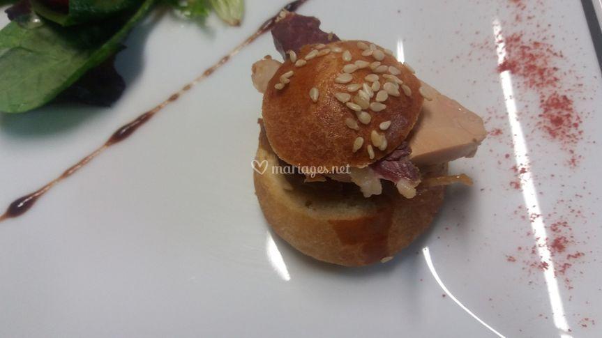 Mini burger foie gras