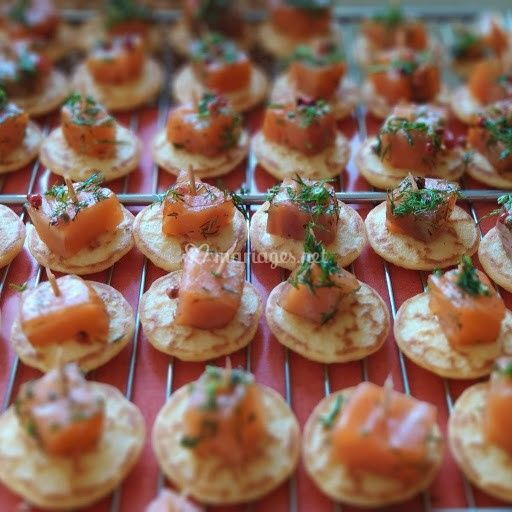 Blinis et saumon gravlax