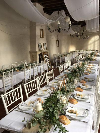 Table dréssé en Banquet
