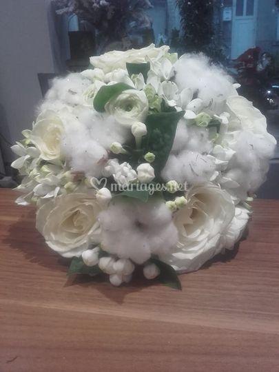 Bouquet noce de  coton