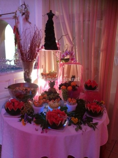 Buffet de fruits frais