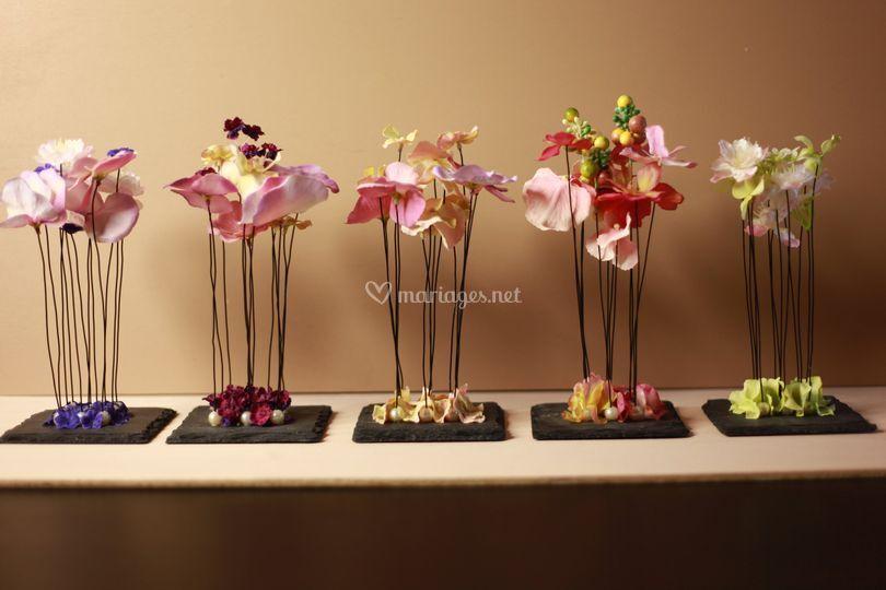Carrés de fleurs