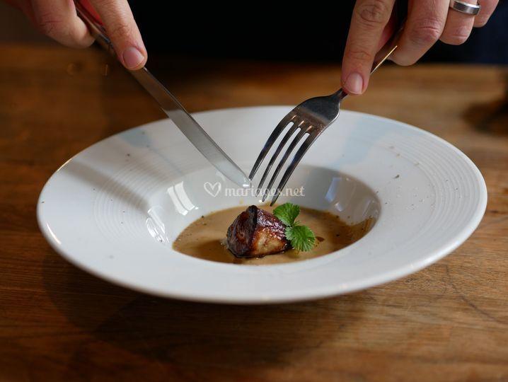 Ravioles de canard foie gras