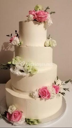 Layer Cake Blanc & Fleurs
