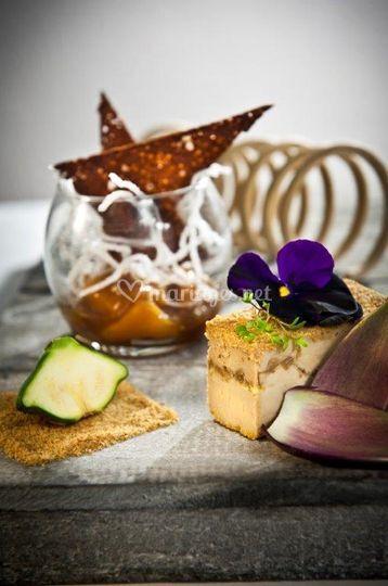 Foie gras mangue