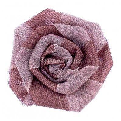 fleur mousseline biclore sur broche