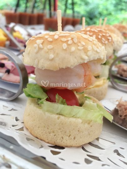 Mini burger à la crevette