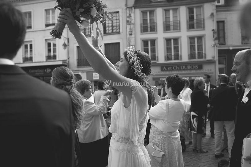 Le bonheur de la mariée