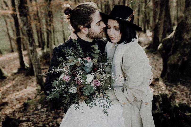 Bouquet engagement