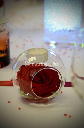 Déco rose rouge