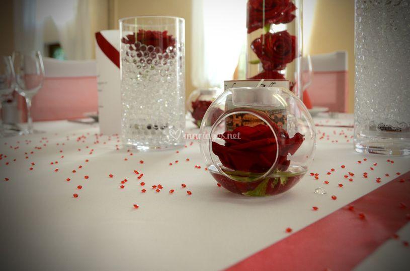 Décoration rouge&blanc
