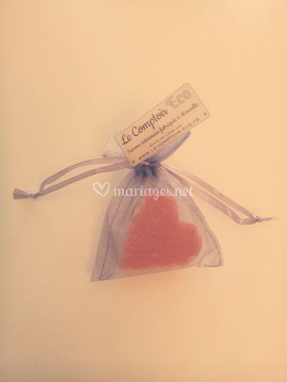 Mini savonnette coeur