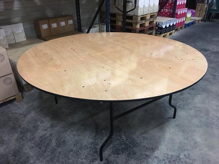Tables rondes 183 cm