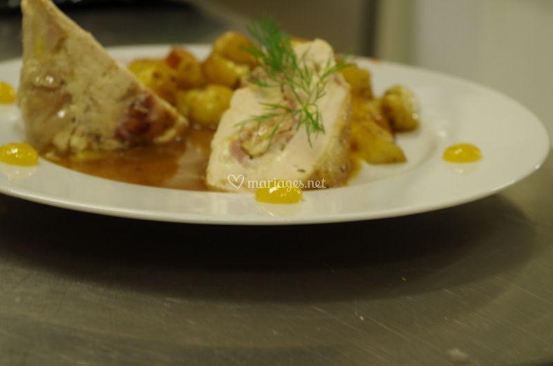 Volaille farcie au foie gras